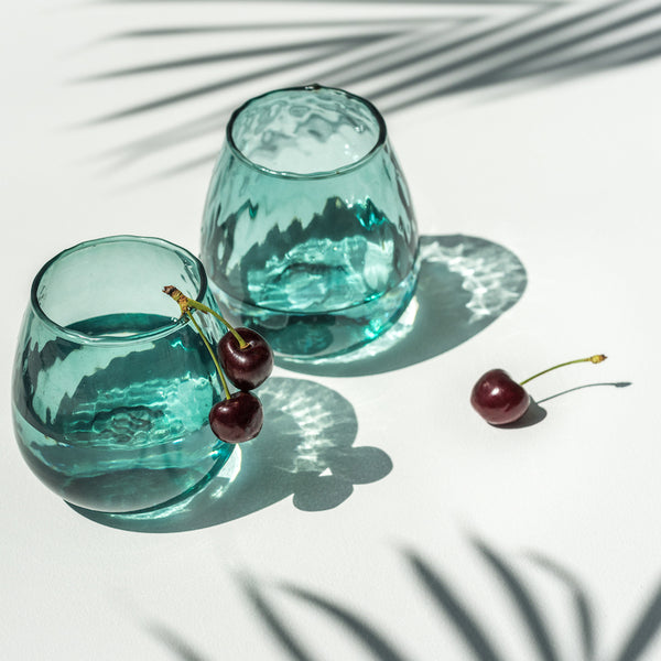 Recycled Ocean Coloured Glass - Urban Nature Culture