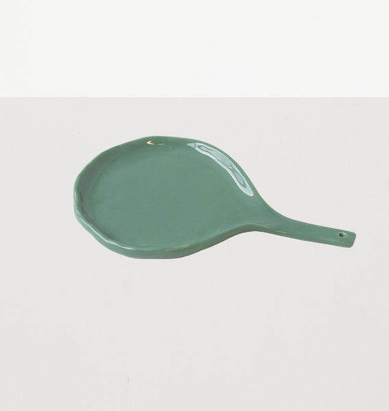 Serving spoon/holder Happy kitchen malachite green - Urban Nature Culture