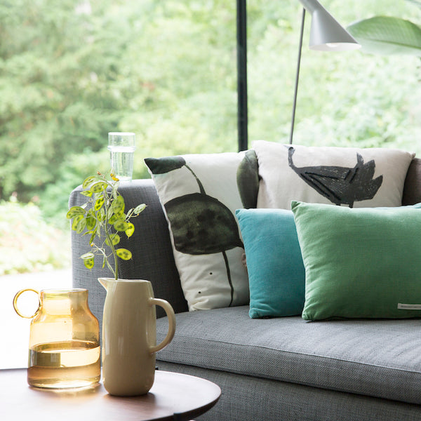 Malachite Green Velvet Cushion - Urban Nature Culture