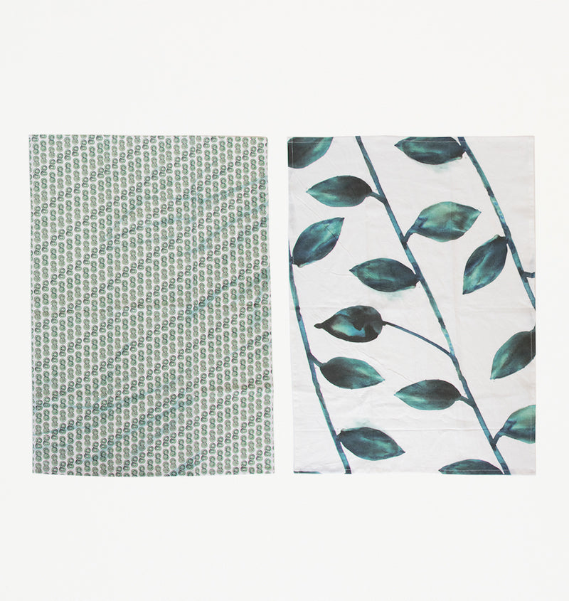 Leafs Tea Towel Set - Urban Nature Culture