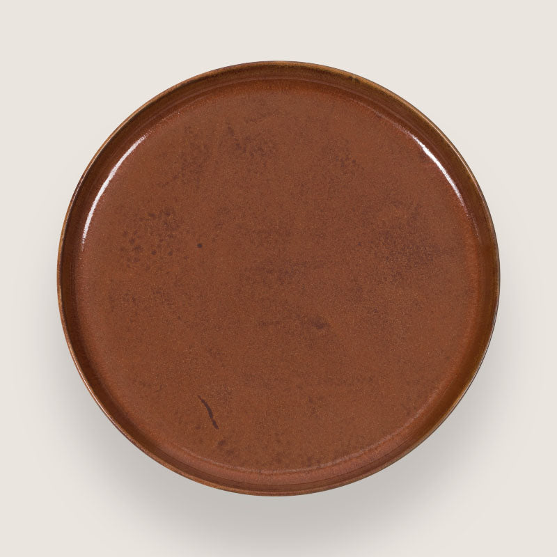 Plate Georgetown Brown - 26 cm - Urban Nature Culture