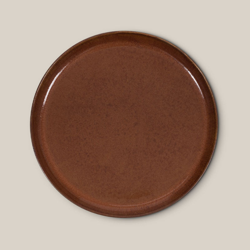 Plate Georgetown Brown - 22 cm - Urban Nature Culture