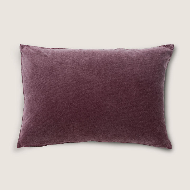 Cushion Vintage Velvet - Dark Red Brown - Urban Nature Culture