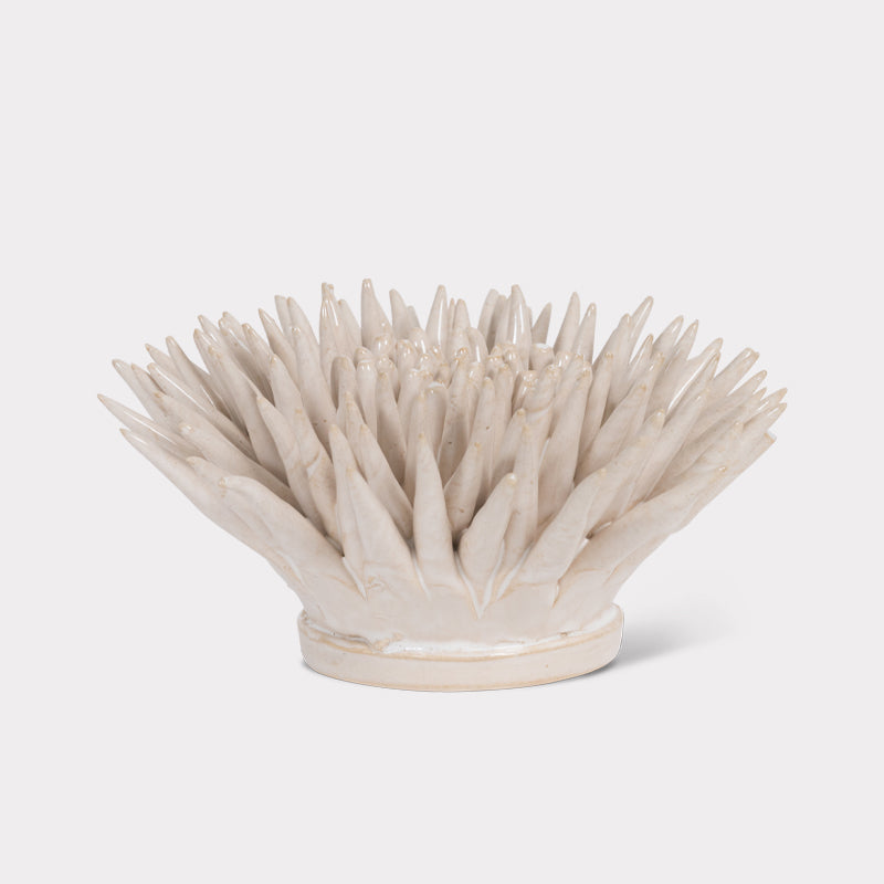 Ceramic white flower home decoration