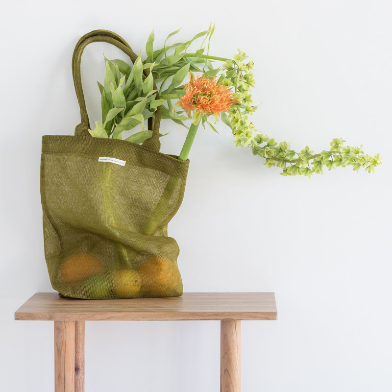 Shopper recycled plastic khaki - Urban Nature Culture