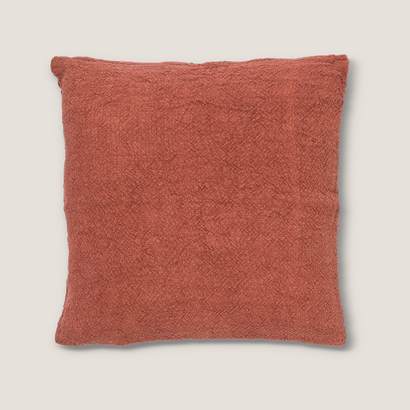 Cushion washed jute burnt brick - Urban Nature Culture