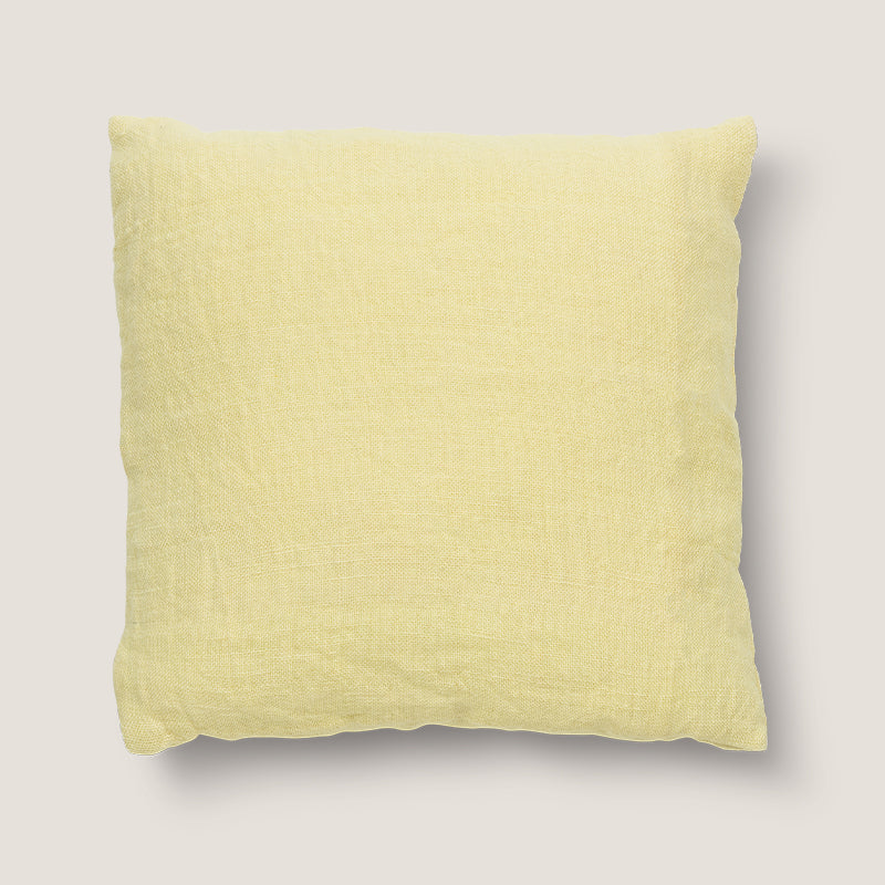 Cushion washed jute citron - Urban Nature Culture