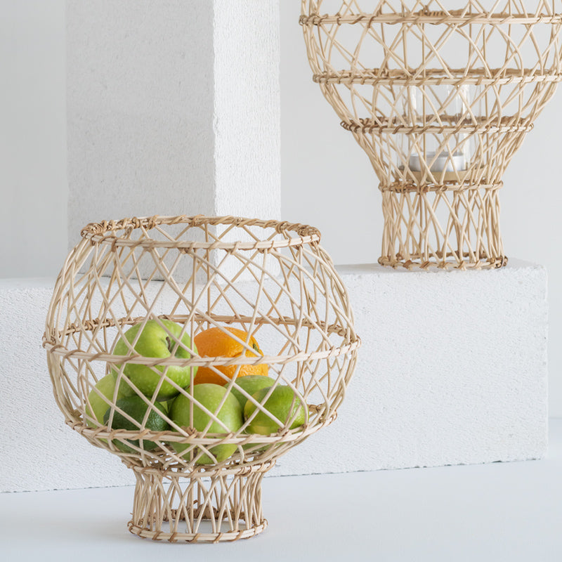 Handwoven basket made of cane
