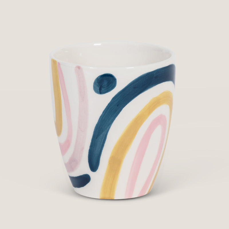 Mug s/2 Linha abstrata pink - Urban Nature Culture