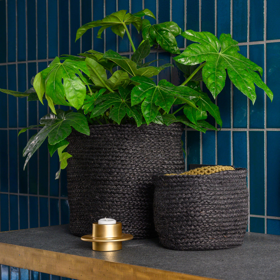 Urban Nature Culture storage basket S, ebony - Urban Nature Culture