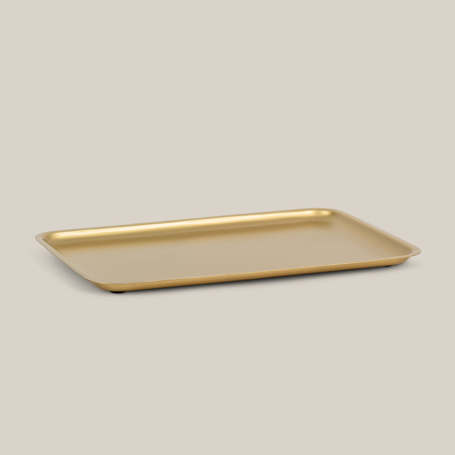 Golden Serving tray, part of the Good Morning Collection of Urban Nature Culture