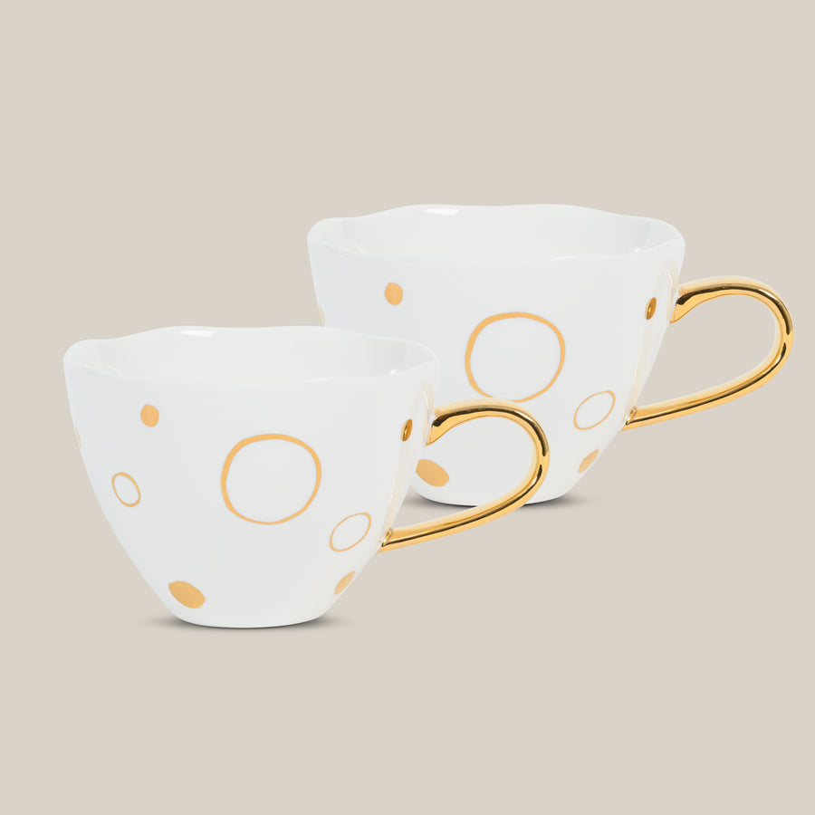Good Morning Cup Special Edition Circle Gold s/2 in gift pack - Urban Nature Culture