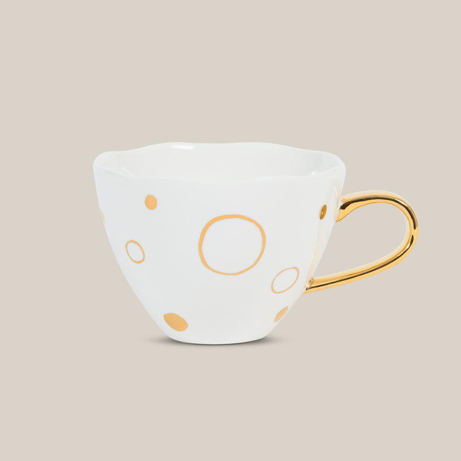 Good morning cup golden circles Size: 11 * 9 CM - Urban nature Culture