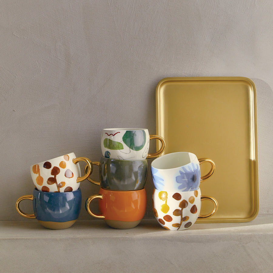 Good Morning Serving tray, gold