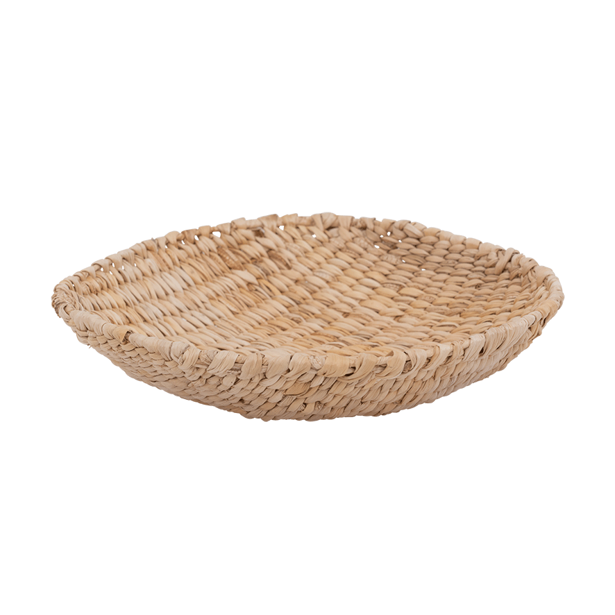 Large woven basket made of banana leafs