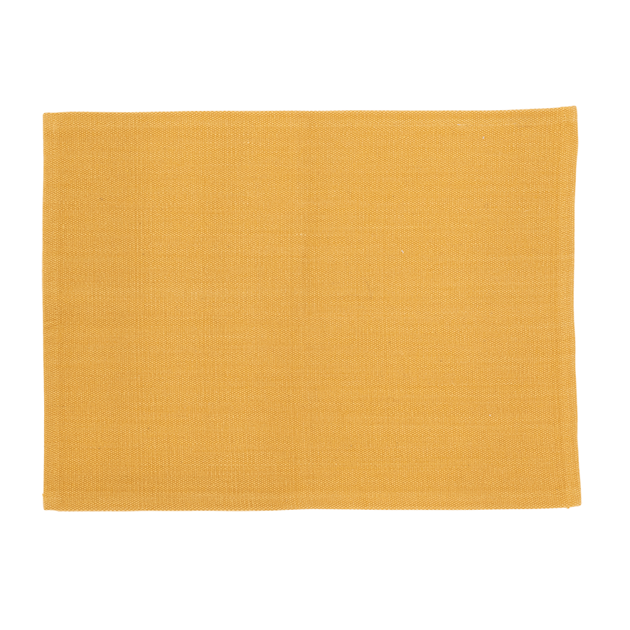 Placemat Recycled Cotton, Yolk yellow