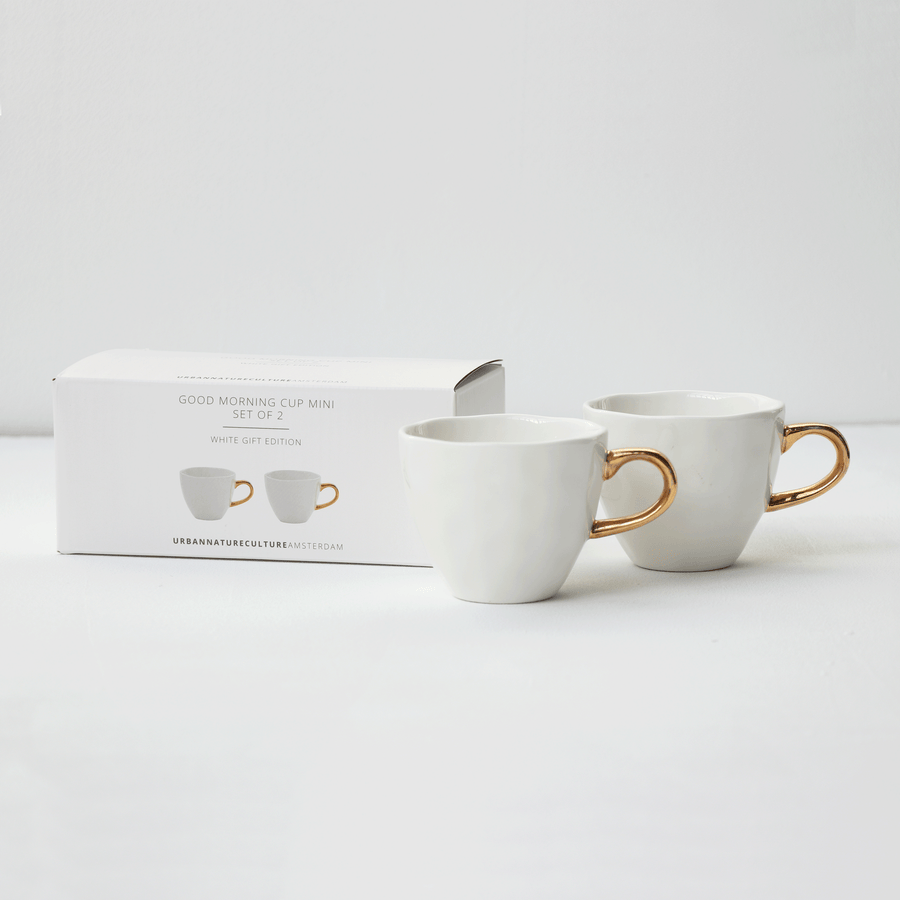 Good Morning Cup Mini s/2 in giftpack, white