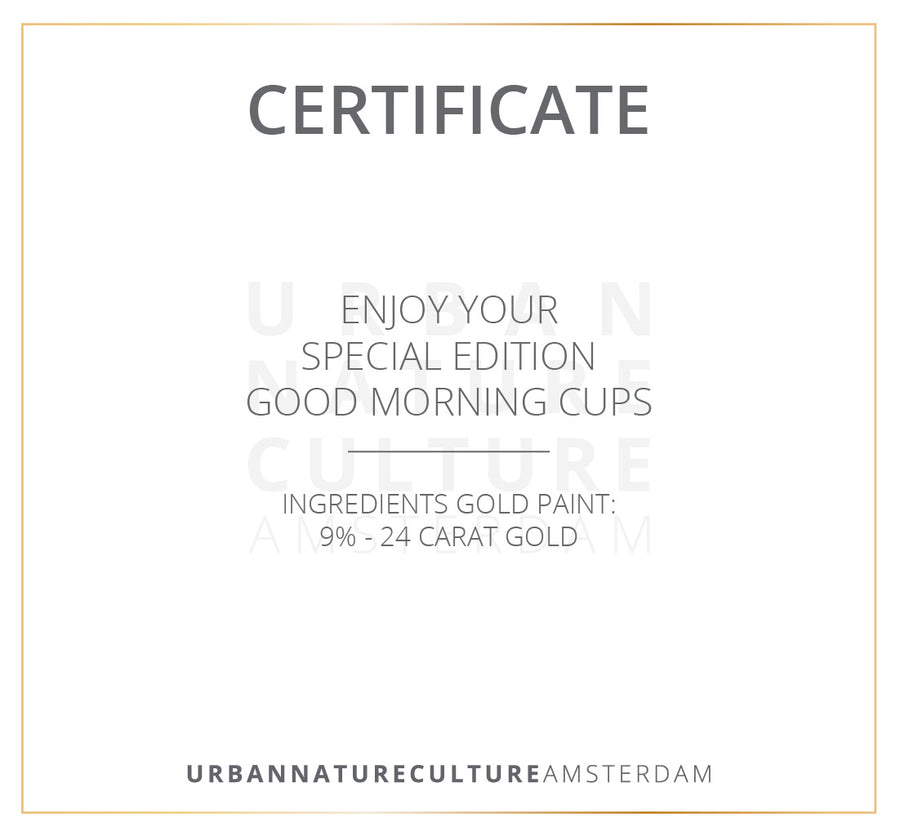 Good Morning Cup Special Edition Circle Gold s/2 in giftbox