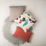 Cushion Bihar Nature Green recycled silk