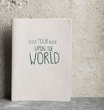 Notebook - Upon The World - Urban Nature Culture