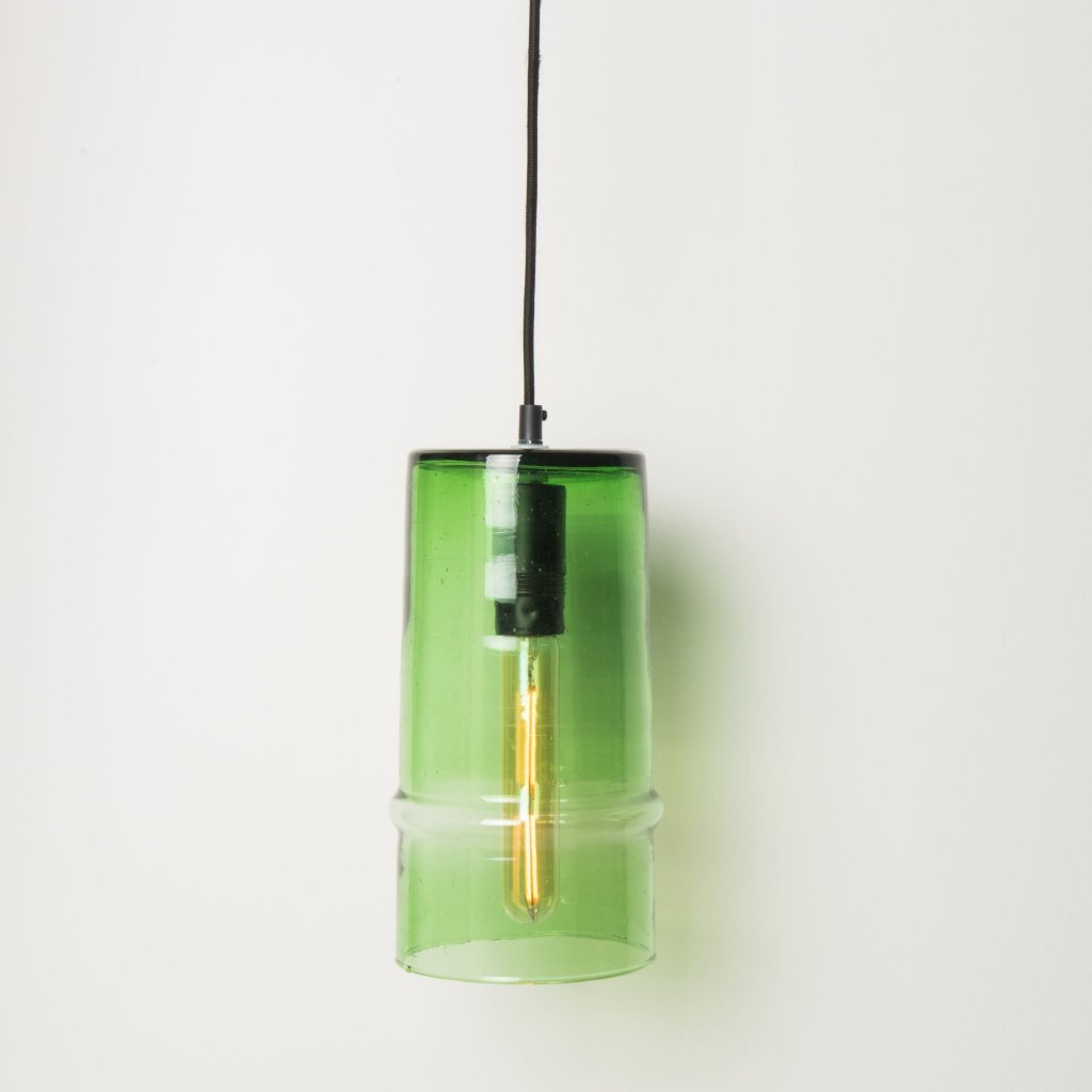 Lamp Costa Verde - Including Pendant Black recycled glass