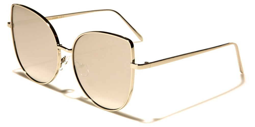 Silver oversized mirrored sunglasses