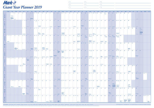 Wall Planner - Giant 2019 Yearly Wall Planner