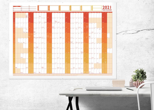 2021 Large Year Wall Chart and Holiday Planner