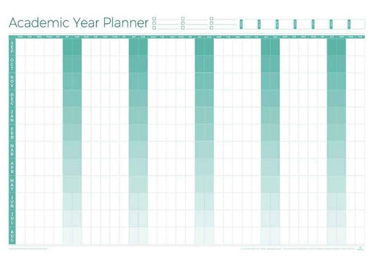 Academic Perpetual Year Wall Planner - Laminated