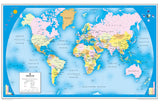 World Wall Map for Schools - Reversible