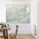New Forest - UK National Park Wall Map