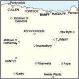 Maps - Banff Huntly Portsoy Turriff Landranger Map - Ordnance Survey