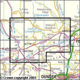 Maps - Blairgowrie Kirriemuir Glamis Explorer Map - Ordnance Survey