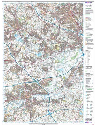 Bolton Wigan Warrington Explorer Map - Ordnance Survey