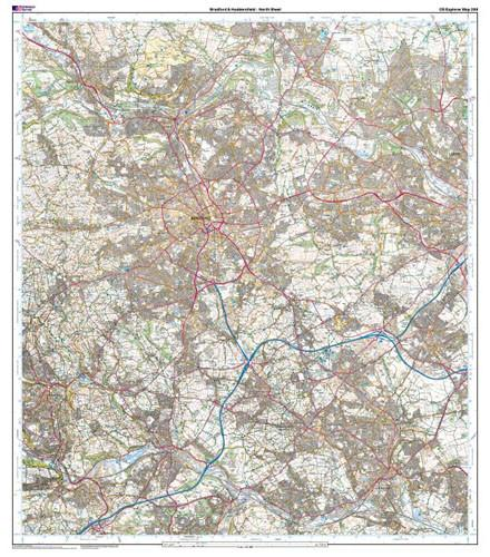 Maps - Bradford Huddersfield Explorer Map - Ordnance Survey