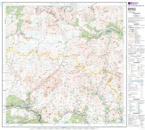 Maps - Braemar Blair Atholl Landranger Map - Ordnance Survey