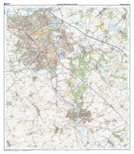 Buckingham Milton Keynes Explorer Map Ordnance Survey Geopacks