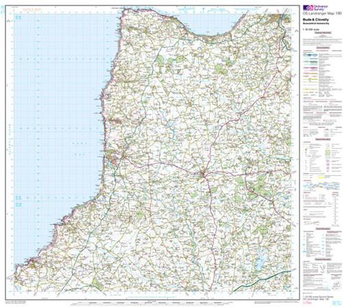 Maps - Bude Clovelly Boscastle Landranger Map - Ordnance Survey