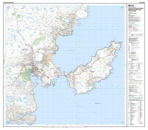 Maps - Central Lewis Stornaway Explorer Map - Ordnance Survey