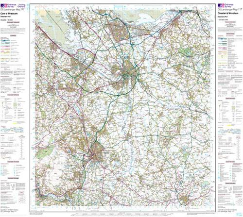 Maps - Chester Wrexham Landranger Map - Ordnance Survey