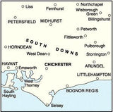 Maps - Chichester The South Downs Landranger Map - Ordnance Survey