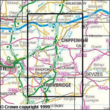 Maps - Chippenham Bradford-on-Avon Explorer Map - Ordnance Survey