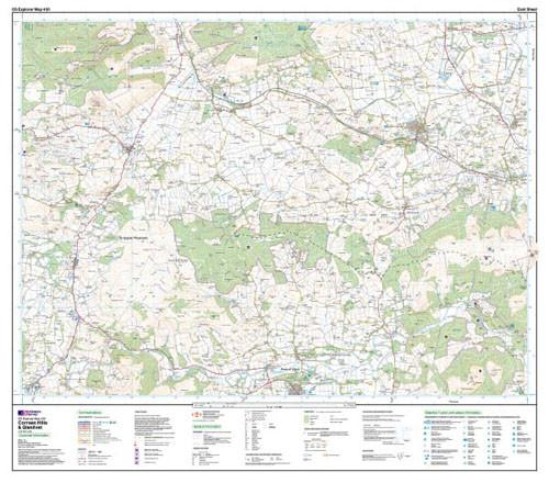 Maps - Coreen Hills Glenlivet Explorer Map - Ordnance Survey