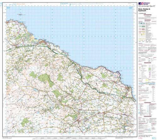 Maps - Duns Dunbar Eyemouth Landranger Map - Ordnance Survey