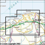 Maps - Elgin Forres Lossiemouth Explorer Map - Ordnance Survey