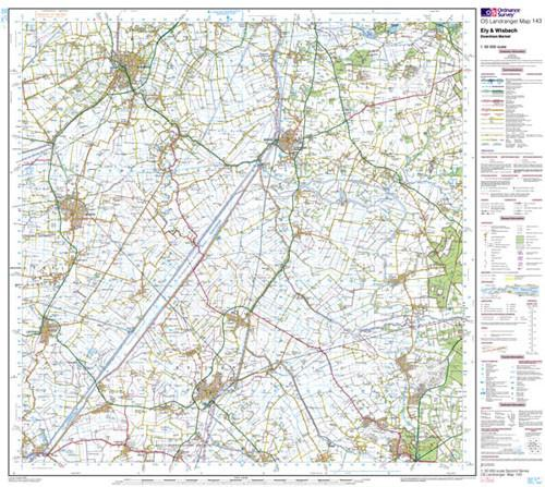 Maps - Ely Wisbech Downham Market Landranger Map - Ordnance Survey