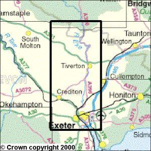 Exeter the Exe Valley Explorer Map Ordnance Survey Geopacks