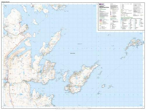 Maps - Explorer Map Shetland Mainland North East
