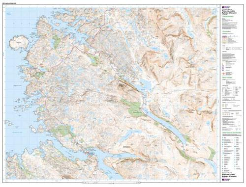 Maps - Foinaven Arkle Kylesku Scourie Explorer Map - Ordnance Survey