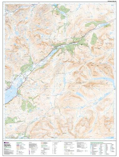 Maps - Glen Carron West Monar Explorer Map - Ordnance Survey